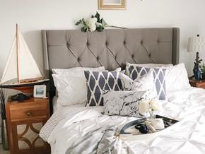 Very Navy: A Nautical Summer Bedroom Look