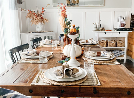 Warm Hues and Blues: Fall at Wild Rose Country Home