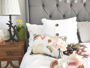 A Spring Bedroom Uplift for Under $100!