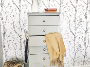 Antique Dresser Refresh and Peel & Stick Wallpaper