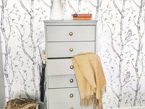 Antique Dresser Refresh and Peel & Stick Wallpaper