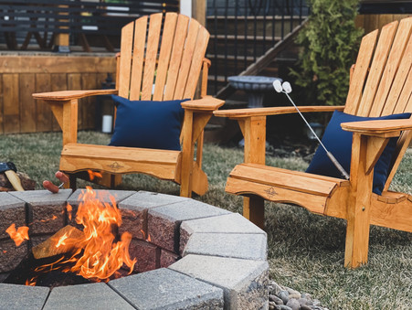 Long Weekend DIY Project: A Fire Pit Area with Cape Cod Chairs