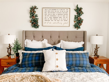 Add a little Tartan Flare to your Bedroom