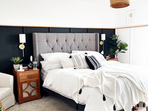 The Dark Side of Décor: Master Bedroom Boho-Modern Makeover