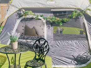 Backyard Glamping Theme Party