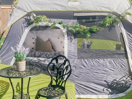 Backyard Glamping Theme Party