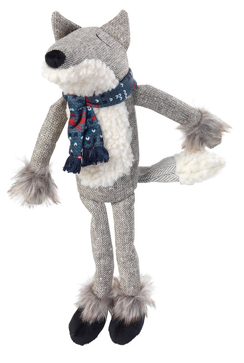 tweed fox dog toy