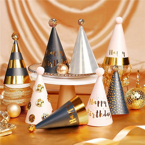 Gold Party Hat (Medium & Large dogs)