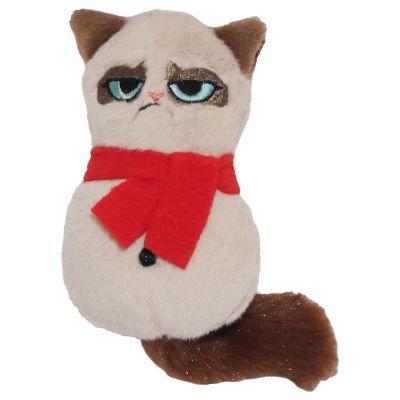 Grumpy cat snowman