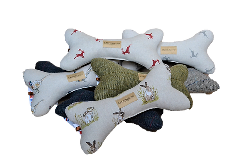 tweed bone dog toy