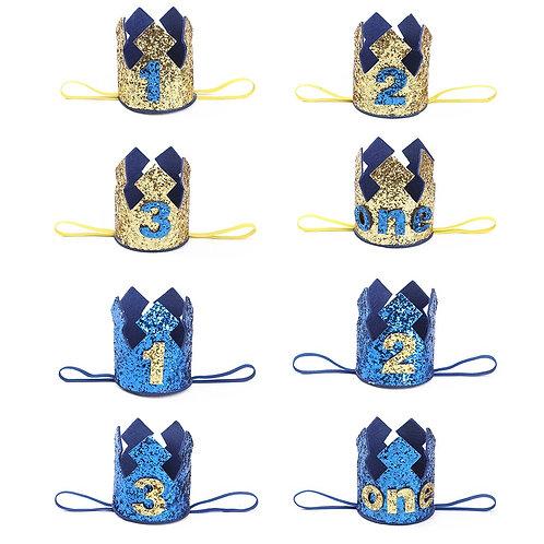 Blue party crown