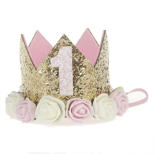 Pink party crown