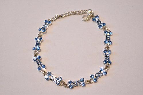 Blue string of bones