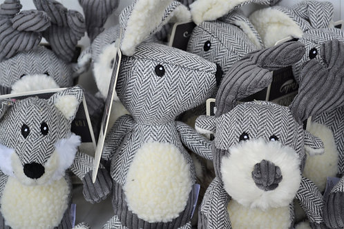 Grey tweed toys