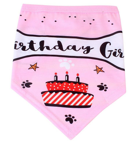 Birthday cake bandana (medium & large dogs)