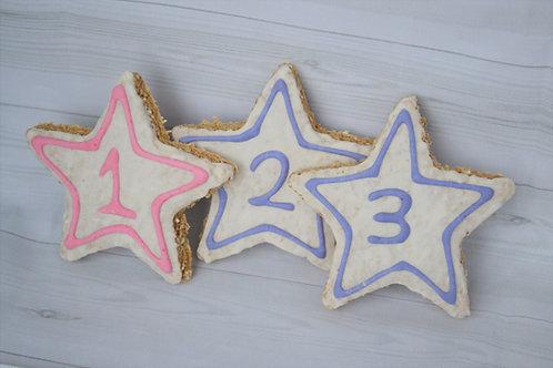 Birthday star cookies