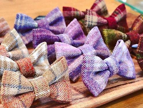 tweed dog bows