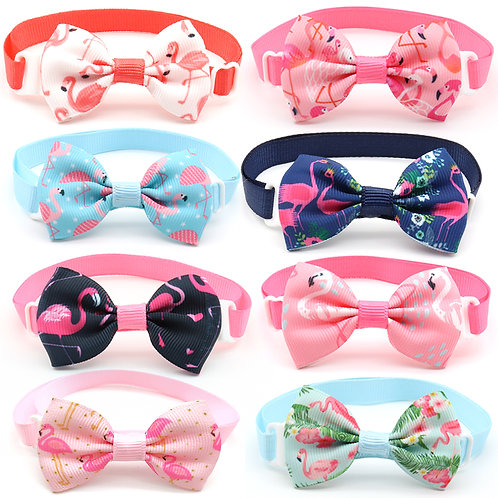 Flamingo bows (small dogs)