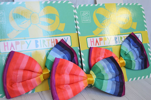 Rainbow Birthday bow