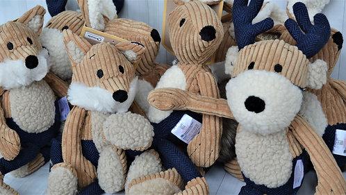 Navy tweed toys