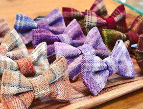 tweed bows for dogs