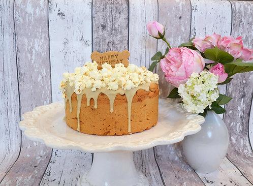 Cheese Popcorn Birthday Cake