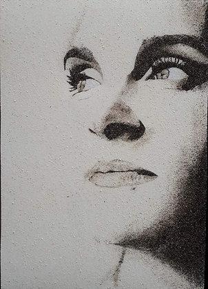 Tableau de sable - Portrait sur commande