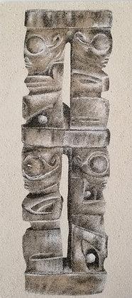 Tableau de sable d'une Colonne de Tiki