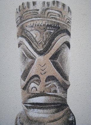 Tableau de sable d'un Tiki