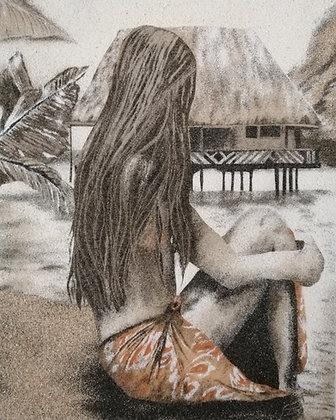 Tableau de sable d'une Vahiné