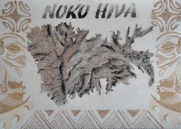 Tableau de sable île de Nuku Hiva