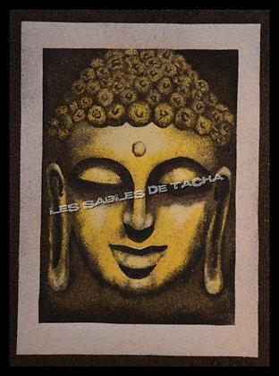 Tableau de sable Tête De Bouddha N°1