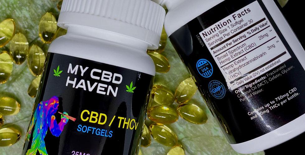 CBD & THCv Softgels