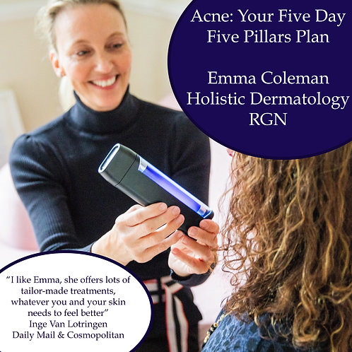 EBOOK DOWNLOAD - 'Acne:Your Five Day, Five Pillars Plan'