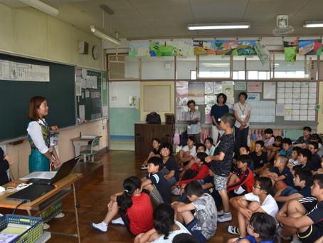 アメリカのアンティナンコさん福田小・豊岡中へ訪問しました