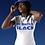 Thumbnail: Unisex | My Degree is Black Shirt (White w/Royal Blue)