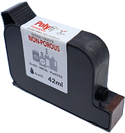 HP Freedom ink cartridge, dark black, non porous, foil & film