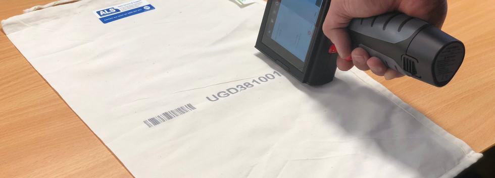 S2i printer on postal bag