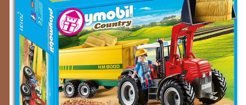 PLAYMOBIL 70131 Tractor Trailer Supply
