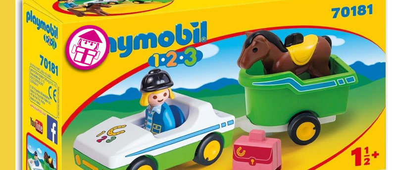PLAYMOBIL 70181 Car with Horse Trailer