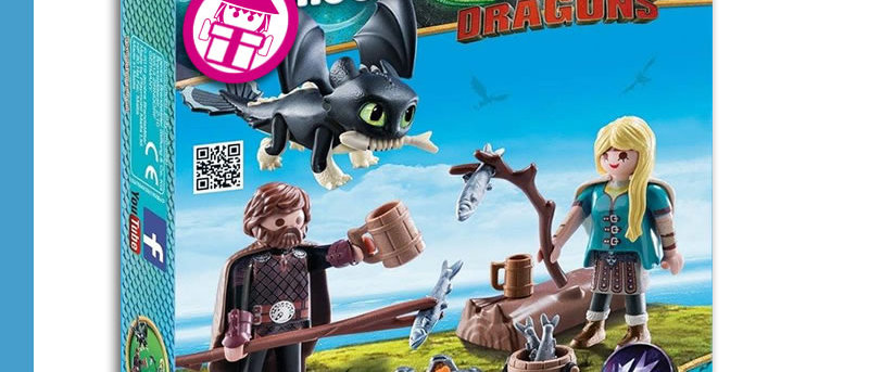 Dragons PLAYMOBIL 70040 Hicks and Astrid Playset