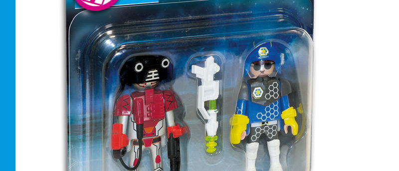 PLAYMOBIL 70080 Duo Pack Space Policeman and Thief
