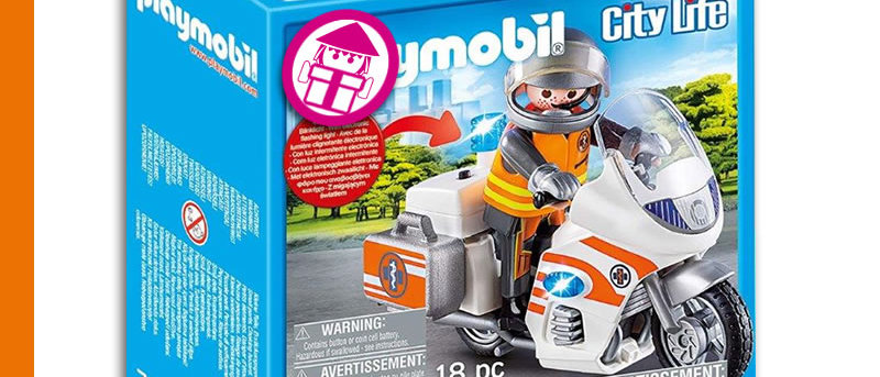 PLAYMOBIL 70051 Motorcycle for Emergencies
