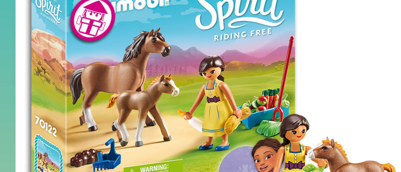 Spirit PLAYMOBIL 70122 Pru with Horse and Foal