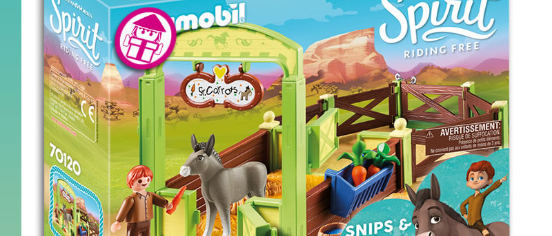 Spirit PLAYMOBIL 70120 Snips & Señor Carrots with Horse Stall