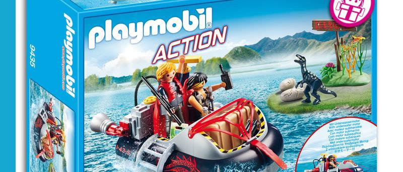 PLAYMOBIL 9435 Dino Hovercraft with Underwater Motor