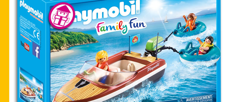 PLAYMOBIL 70091 Sport Boat with Fun Tires