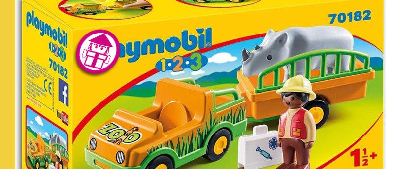 PLAYMOBIL 70182 Zoo Vehicle with Rhino