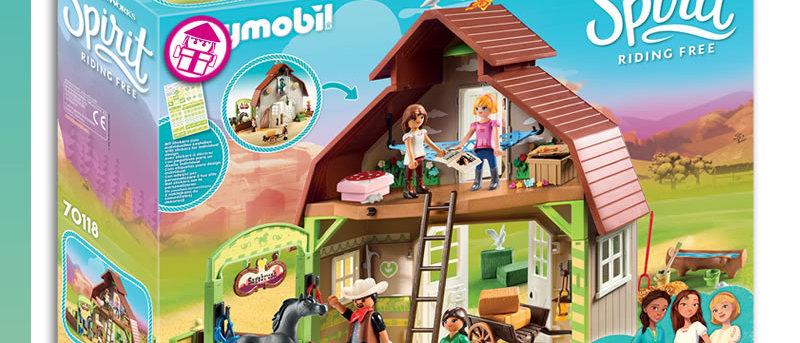 Spirit PLAYMOBIL 70118 Barn with Lucky, Pru & Abigail