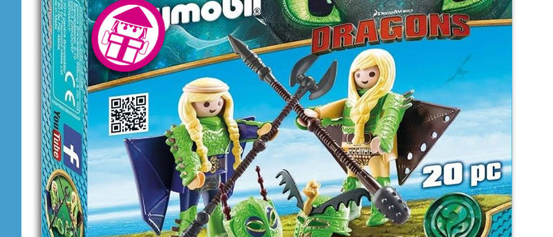 Dragons PLAYMOBIL 70042 Peanut and Taffy with Flight Suit